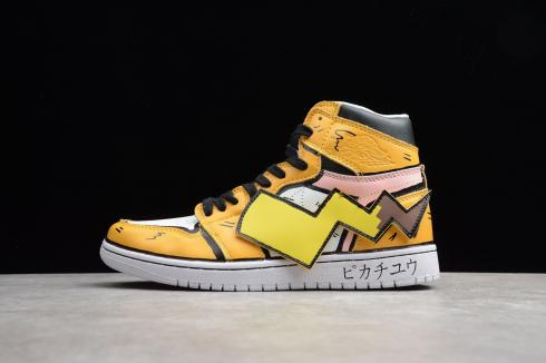 off white x air jordan 1 high yellow pokemon pikachu