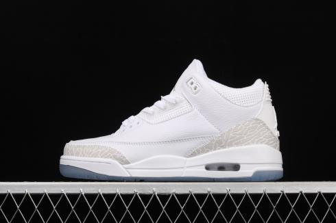 Air Jordan 3 Retro Pure Money White Triple White 136064-111