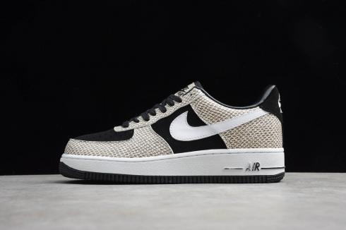 nike air force 1'07 low retro true black cocoa af1 casual