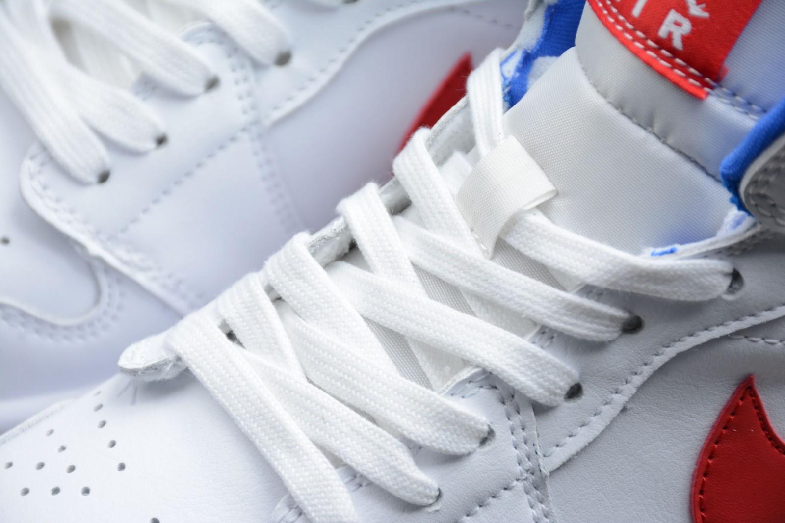 Nike Air Jordan 1 Mid USA White Red Game Royal AJ1 Basketball Shoes BQ6472- 164 - ReactRun