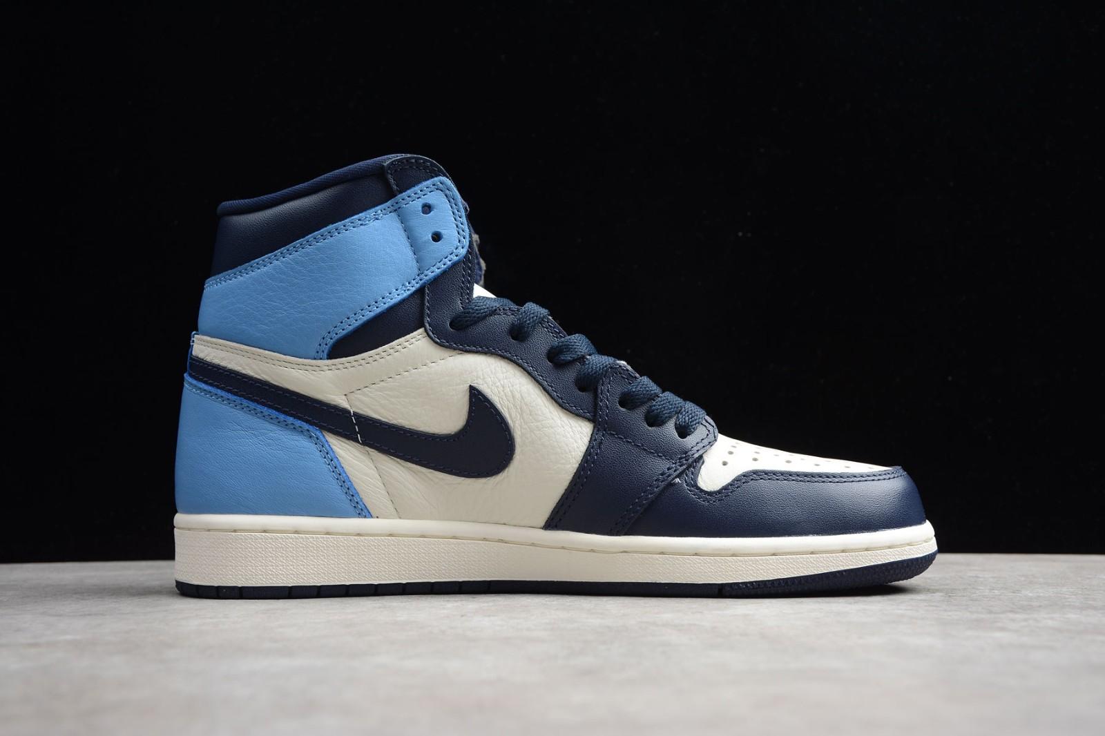 Nike Air Jordan 1 Retro High OG Obsidian Blue White AJ1 Mens ...