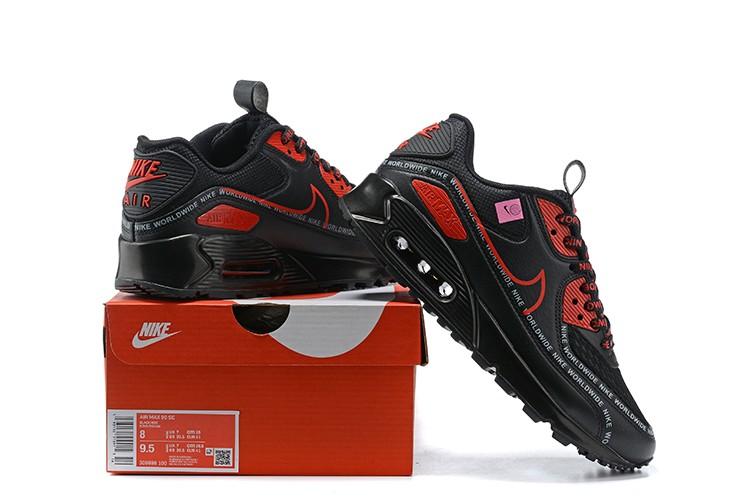 Nike Air Max 90 Worldwide Pack Black Red - ReactRun